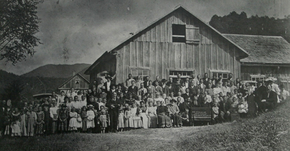 Iglesia de Gaspar Alto, SC, en la Segunda Conferencia del Estado, en torno a 1906